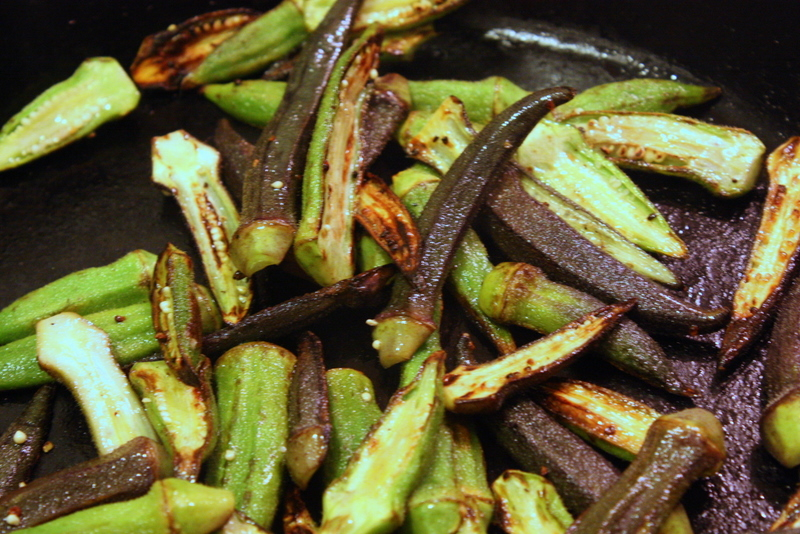 Spiced Okra, Easy and Delicious   Spicy Okra   Skillet-Roasted Spiced ...