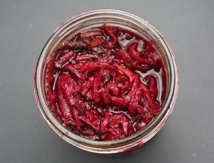 lacto-fermented beets