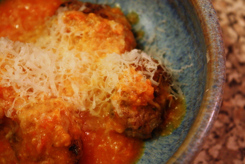 meatballs with roasted tomato sauce