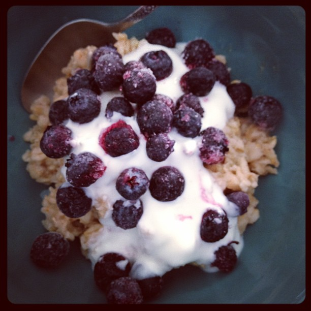 soaked oatmeal blueberries