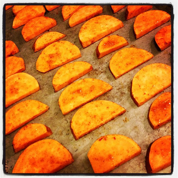 sweet potatoes with chile and orange zest